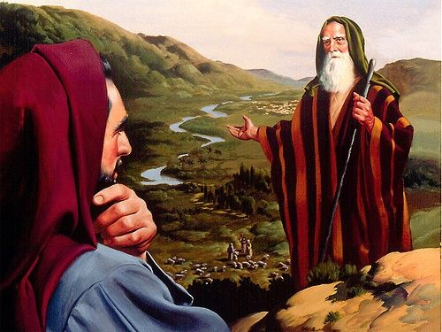 ABRAHAM AND LOT | Abraham and lot, Bible illustrations, Bible pictures