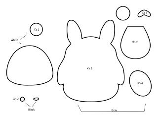 How to make a totoro plushie from felt template tutorial for Felt plushie templates