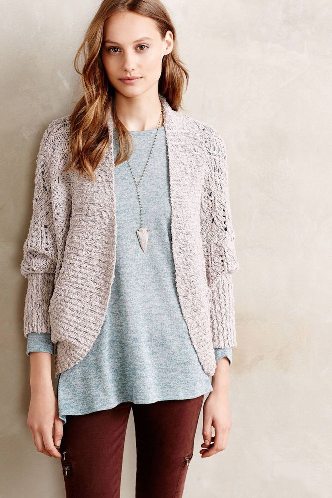 ANTHROPOLOGIE MOTH Amhest Cocoon Cardigan Sweater S NEW #Moth ...