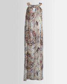 HASHTAG SELFIE Maxi Marble Print Dress
