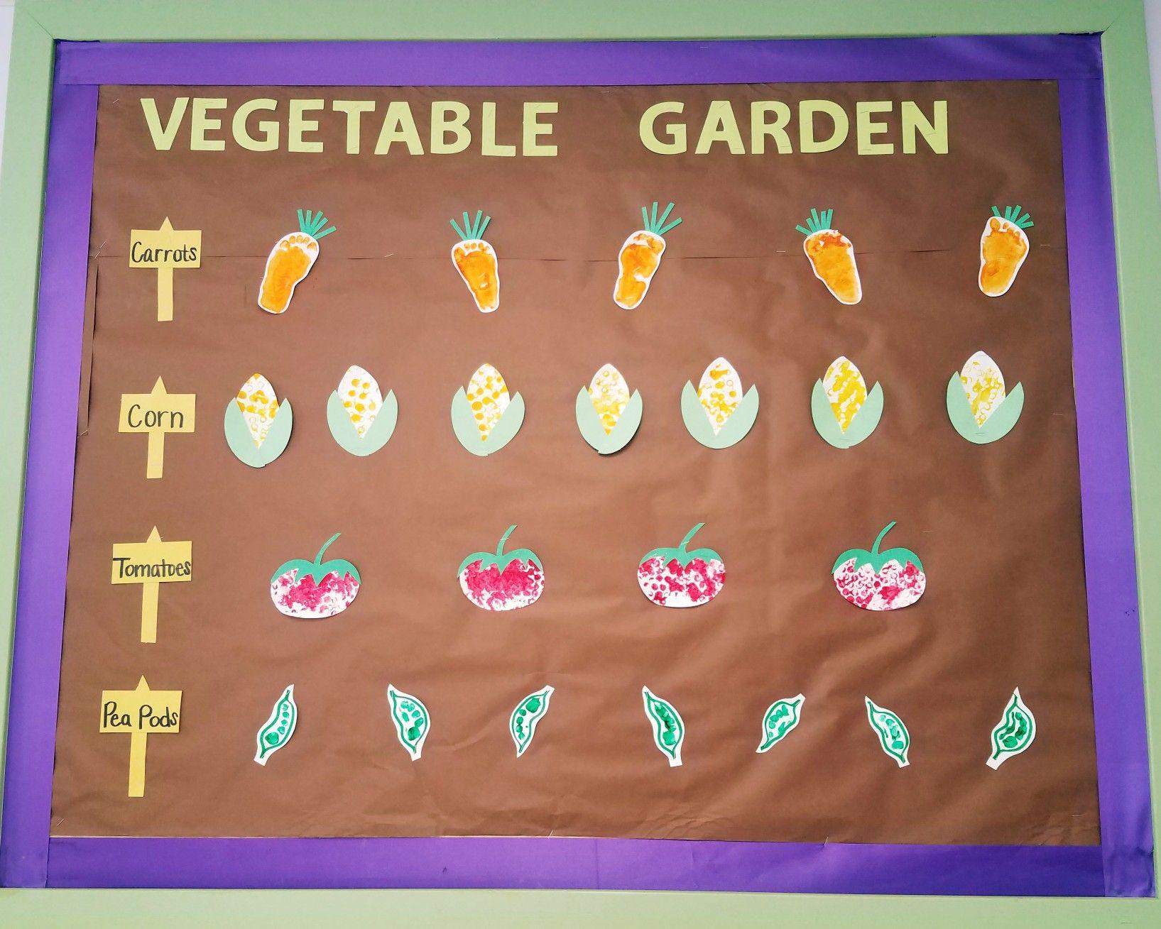 Vegetable garden bulletin board. Infant art projects. Growing ...
