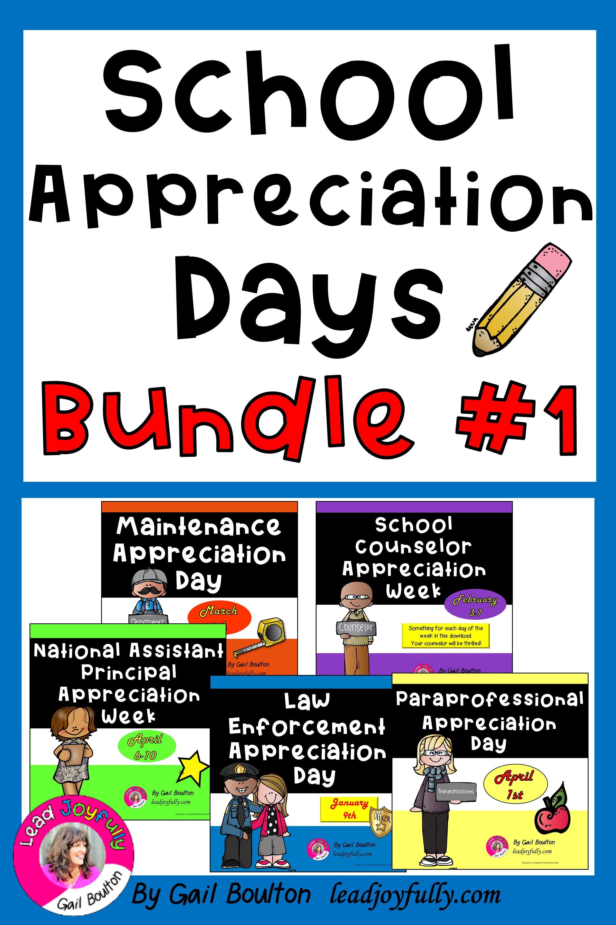 School Appreciation Days BUNDLE #1