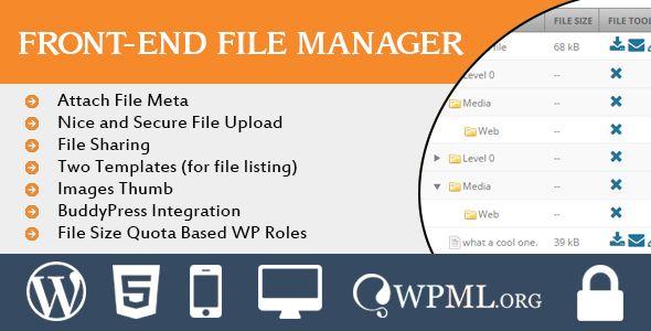 Download Free Wordpress Frontend File Manager # ajax upload