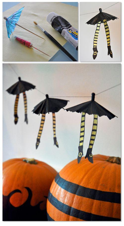 jambes parapluie sorci re halloween halloween id e. Black Bedroom Furniture Sets. Home Design Ideas