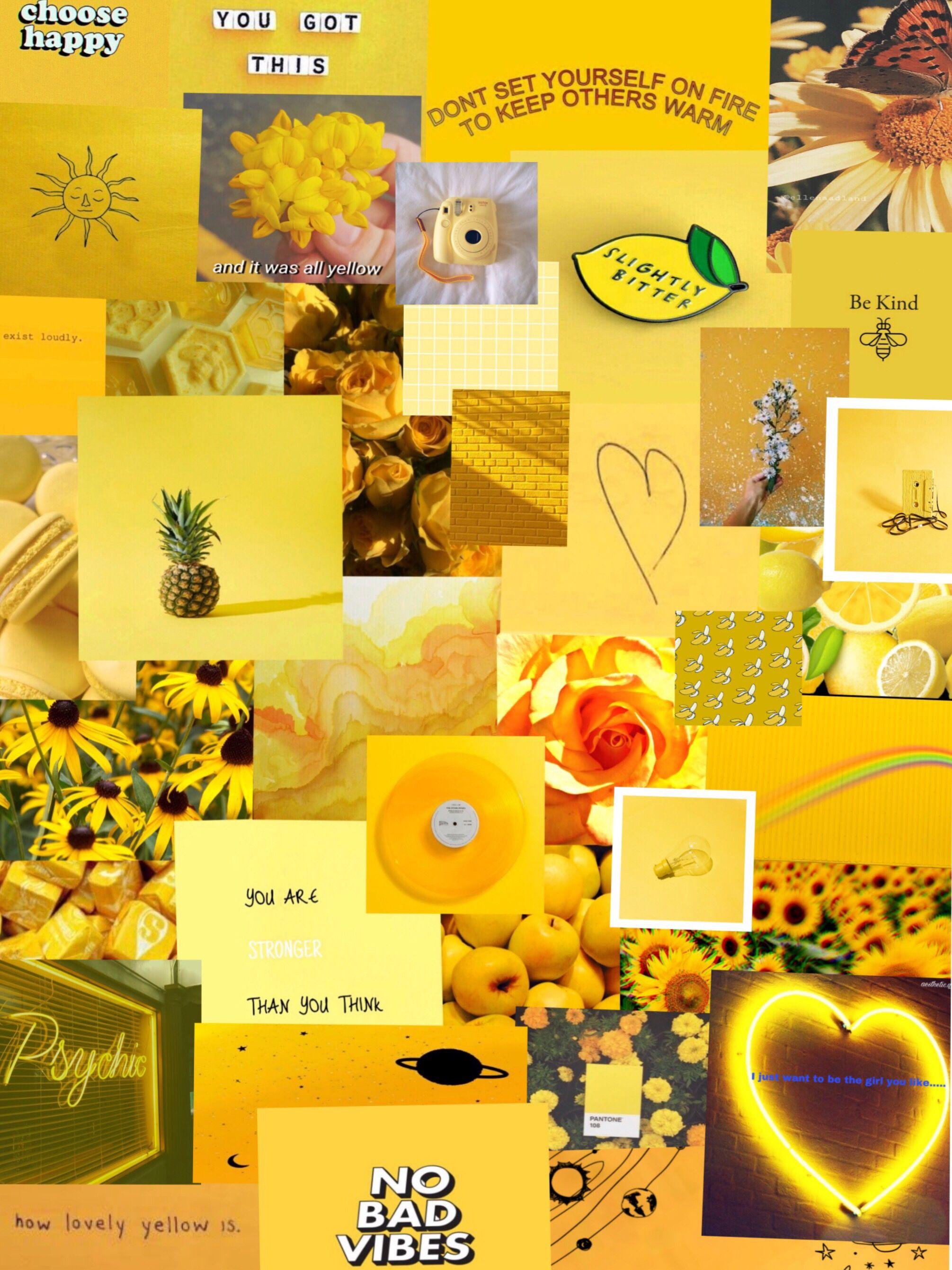 pinterest yellow aesthetic wallpaper Aesthetic
