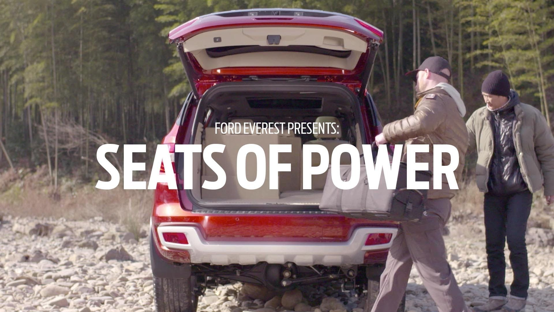 The all new ford everest guarantees total comfort with a massive 2010 liters of space