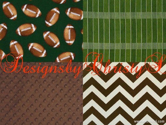 Football Crib Bedding Ensemble By Designsbychristys On Etsy 145 00