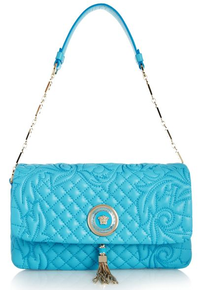 Versace Vanitas Embroidered Leather Shoulder Bag