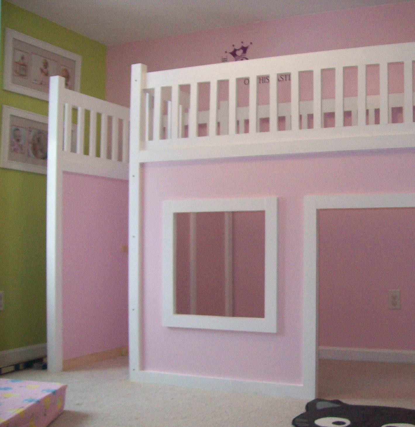 Loft bed with stairs diy  Storage Stairs for the Playhouse Loft Bed  Brylie beds  Pinterest
