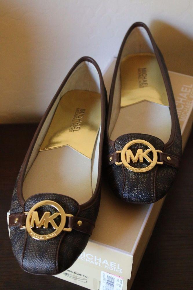 20f36795047dd Michael Michael Kors Signature Fulton Shoes Moc Flats Slip-on Brown ...