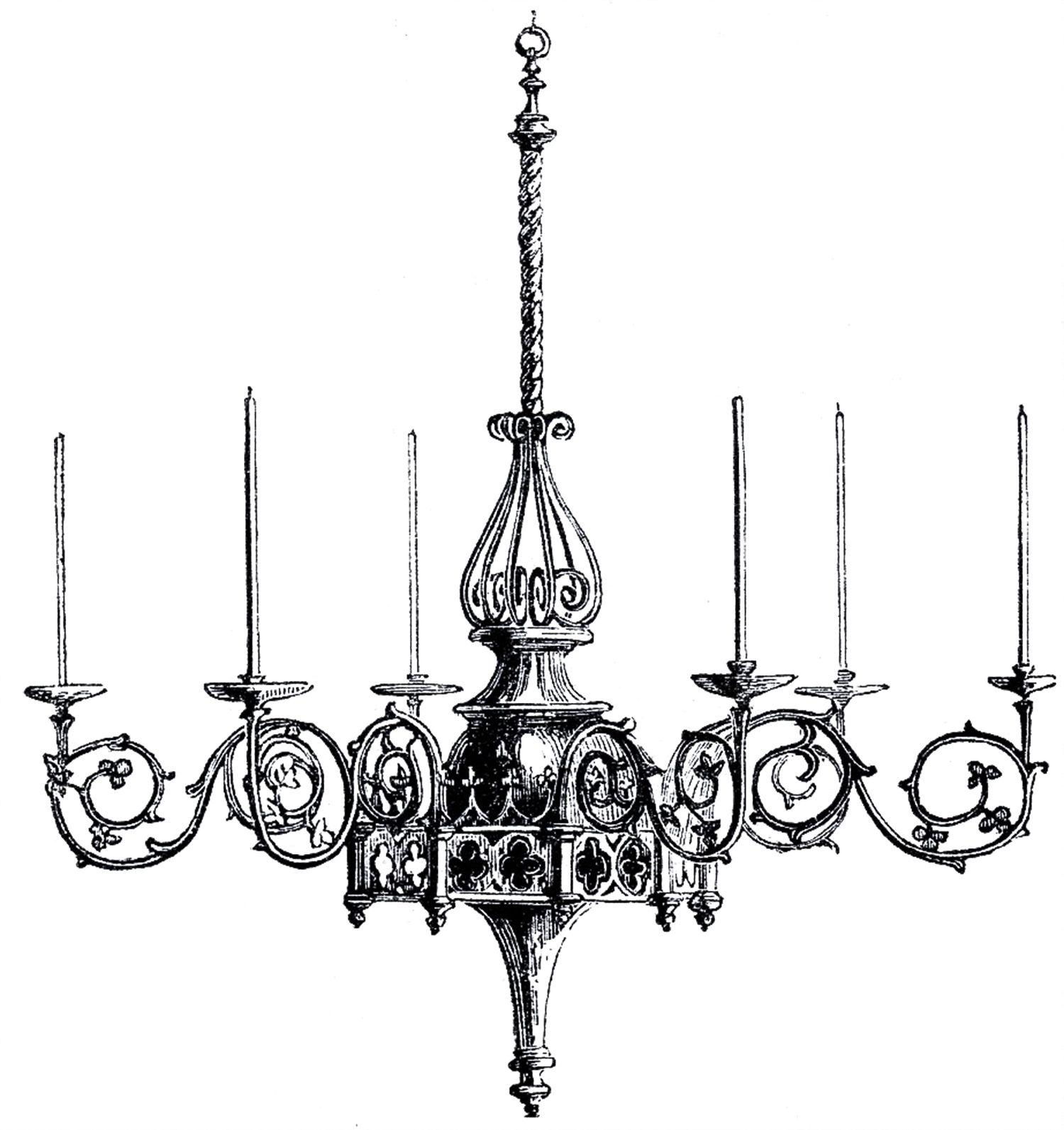 Vintage Gothic Chandelier Image