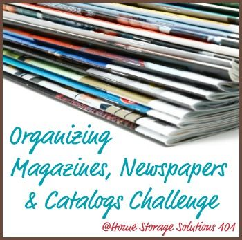week 14 How to organize magazines, newspapers and catalogs in your home {Part of the 52 Week Organized Home Challenge}
