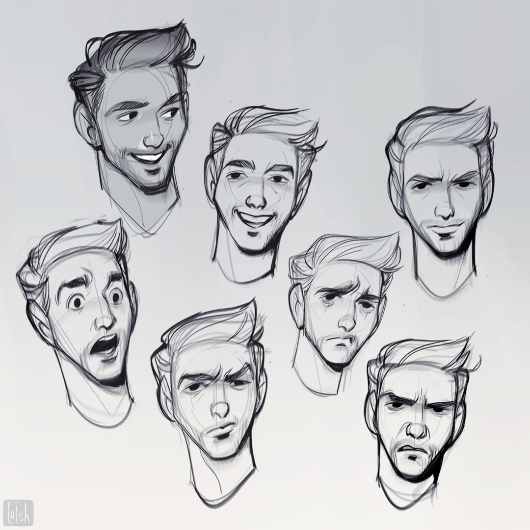 Moods So Many Moods These Sketches Were Made As Part Of A Series Of Commissions For Amazon Web Cartoon Character Design Cartoon Drawings Drawing Expressions