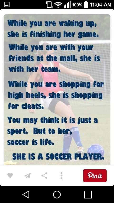 I am a soccer player