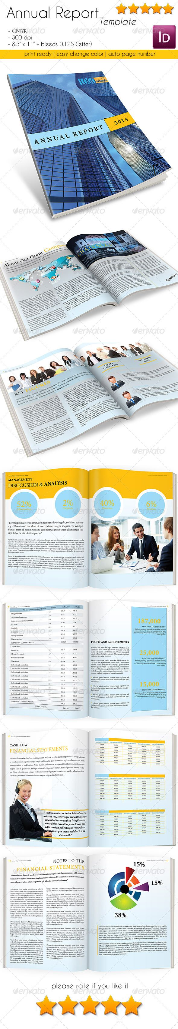Annual Report Template 16 Pages Newsletters Print Templates