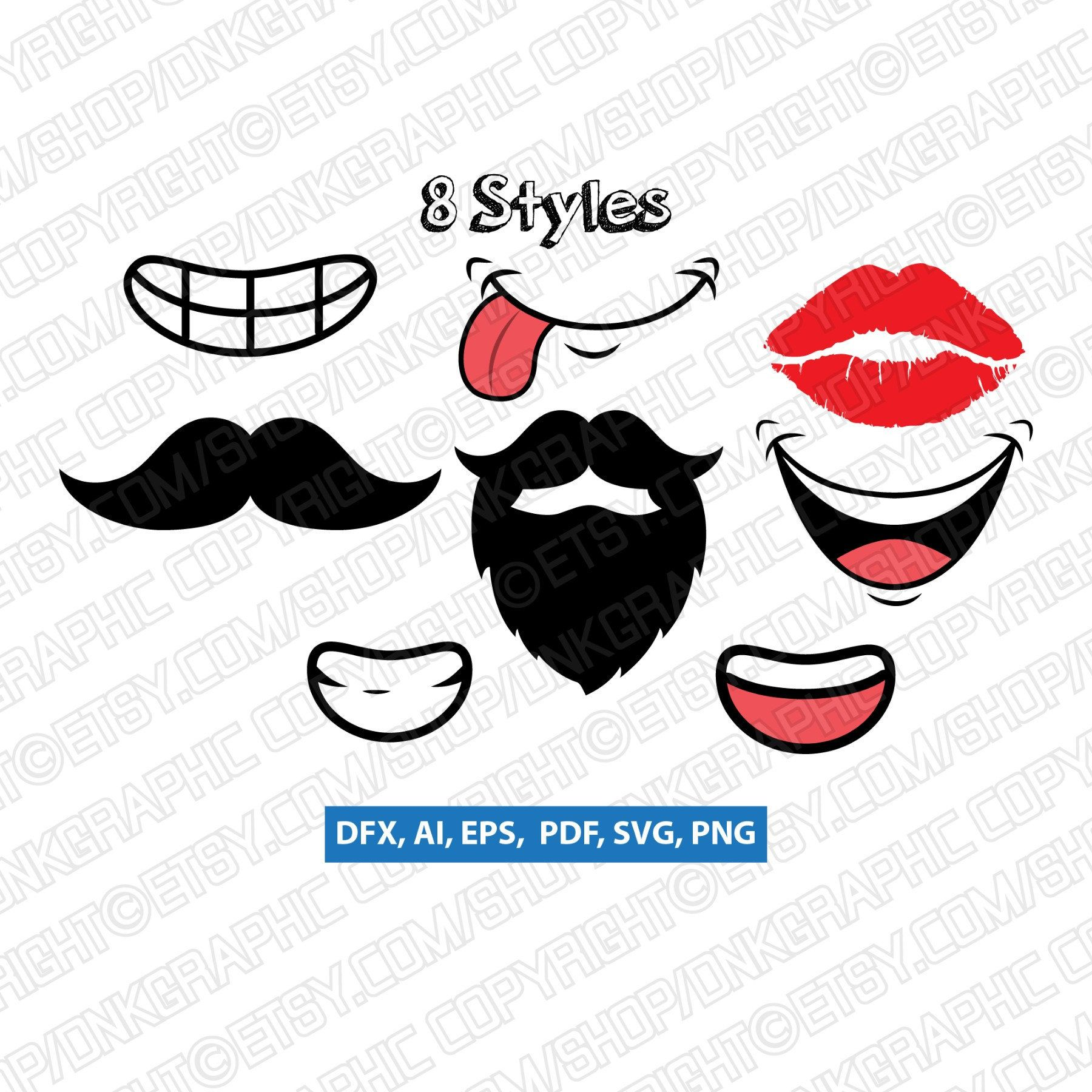 Pdf Eps Cricut Clipart Mask Fashion Print File Cutting Silhouette Dxf Png Vector Design Jpg Nose With Mustache Svg