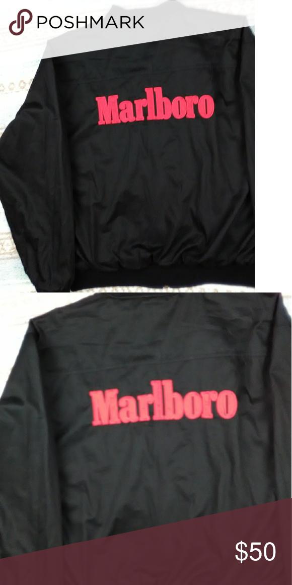 Vintage Mens Reversible Marlboro Jacket Size Large Black Red Vintage Marlboro Reversible Jacket One Flaw As Marlboro Jacket Clothes Design Lightweight Shirts