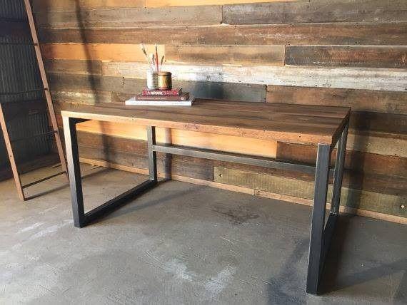Escritorio recibidor madera y hierro hogar pinterest for Como hacer una mesa estilo industrial
