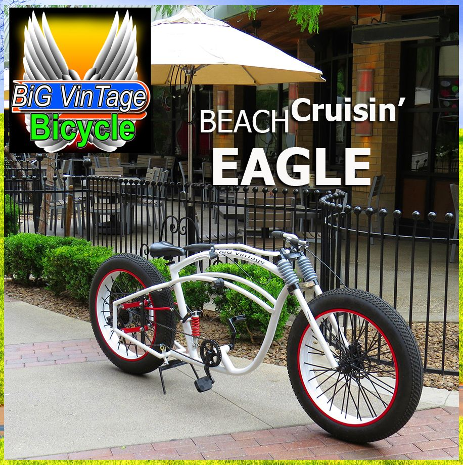 BVB EAGLE Big Vintage Bicycle makes These huge Fat tire beach ...
