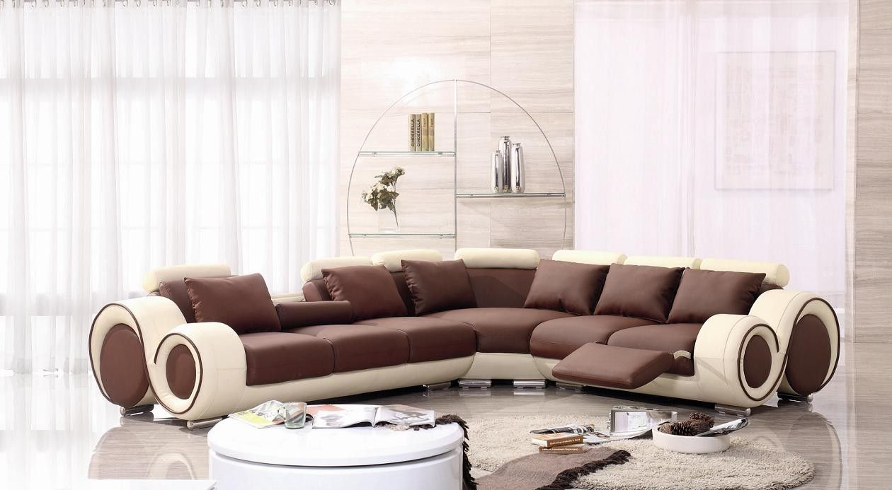 Tosh Leather Sectional Sofa