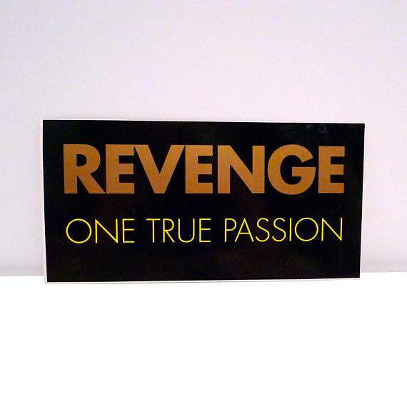 Revenge+Sticker+1990+Vintage+One+True+Passion+Peter+Hook+