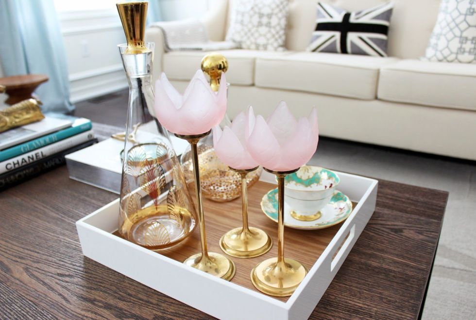 Elevate Your Valentine S Day Celebration With These Chic Decor Ideas Decorating Coffee Tables Coffee Table Styling Coffee Table Tray