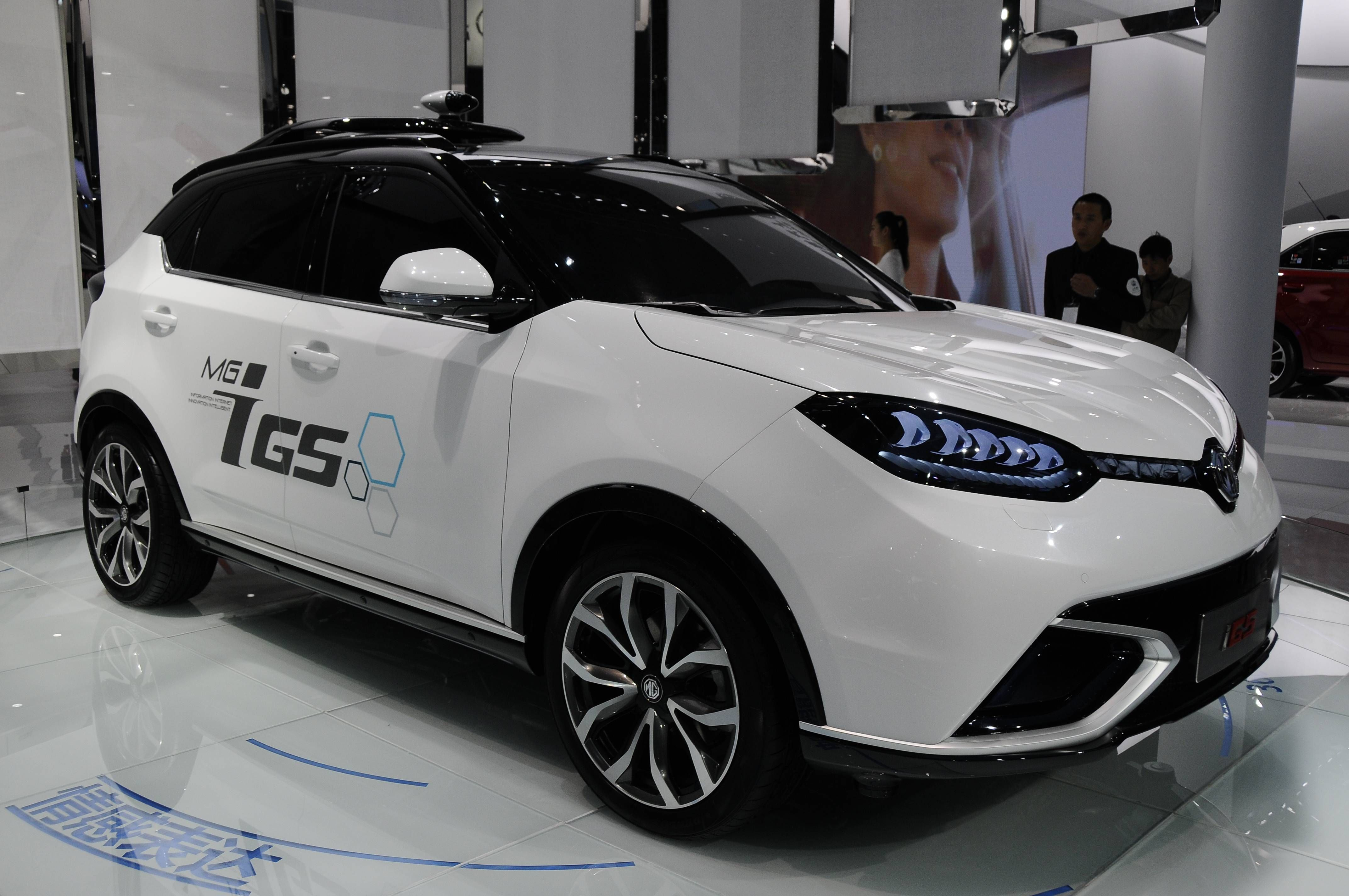 Chinese automakers were also out in force. Shanghai Automotive's MG brand showed off its new compact crossover, the GS.