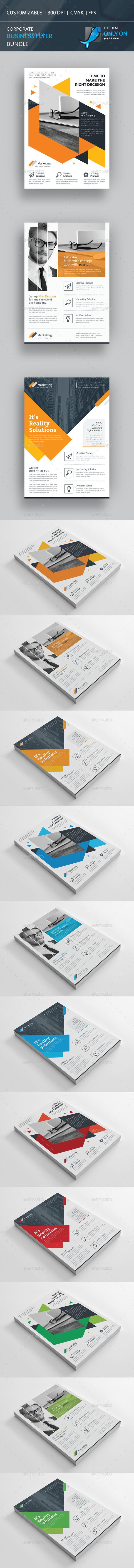 Flyer Template Psd Vector Eps Ai Illustrator Bundle  Flyer
