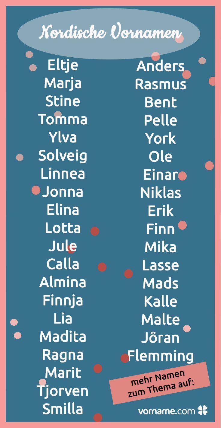 Skandinavische Vornamen Nach Sprache Und Herkunft Der Nordischen Namen Julia Schirmer Pinshare Nordic Names Scandinavian Names Names