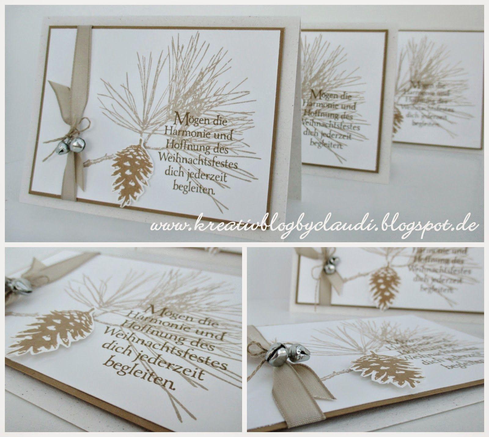 kreativ blog by claudi klassische weihnachtskarte. Black Bedroom Furniture Sets. Home Design Ideas