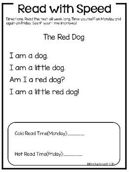 Kindergarten Reading COMPREHENSION and FLUENCY Passages - This ...