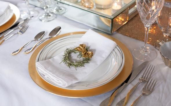 Rosemary Holiday Place Setting Wreaths