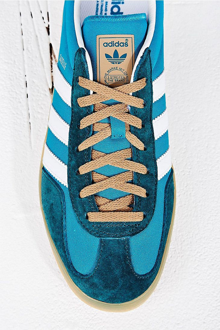adidas gazelle trainers for men turquoise
