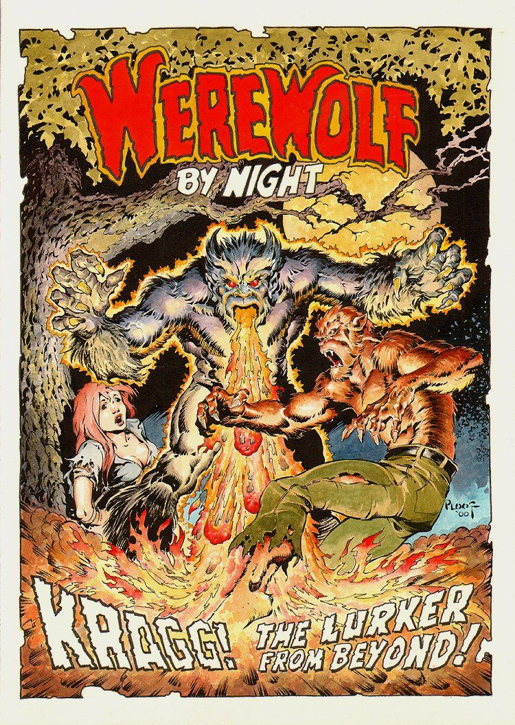 Fantasy Book Cover Art For Sale : Werewolf by night cover recreation ploog