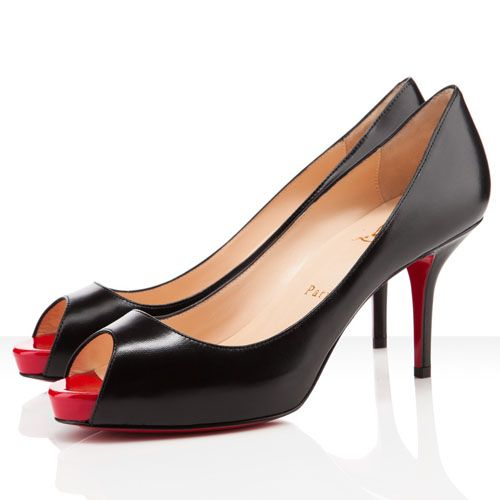 Christian Louboutin Mater Claude 85mm Pumps Black/Red | Louboutin |  Pinterest | Cheap christian louboutin, Christian louboutin and Christian