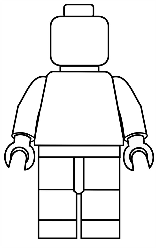 Lego figure coloring free make your own color in lego for Make a coloring page out of a photo