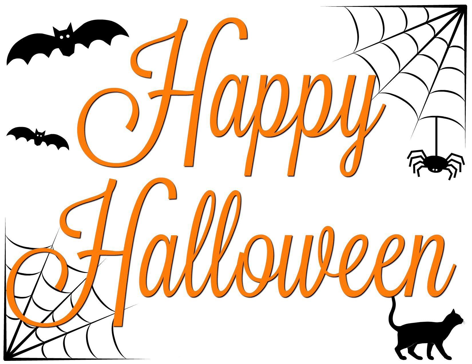 It is a photo of Happy Halloween Signs Printable pertaining to downloadable