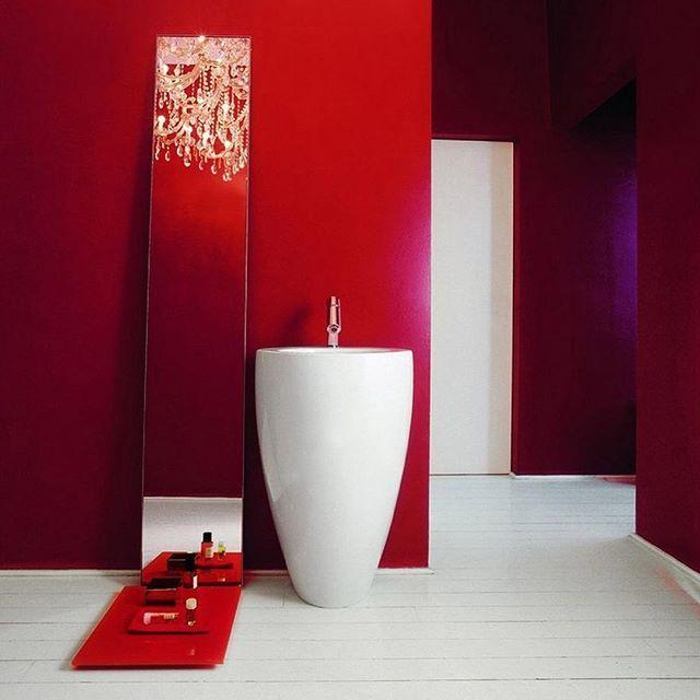 BATHROOM INSPIRATION - Alessi One Washbasin by @laufenbathrooms - design Stefano Giovannoni