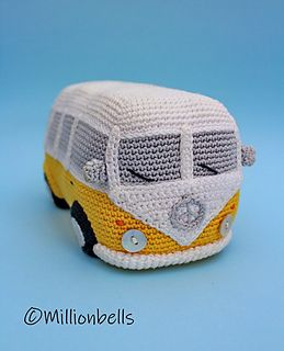 Amigurumi Bus Camper Hippie Van Classic Retro Car