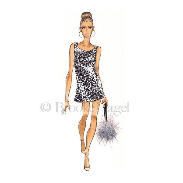 f466b81fca3 Carrie - Fashion Illustration Print - Brooke Hagel - SATC. Ilustraciones De  Moda