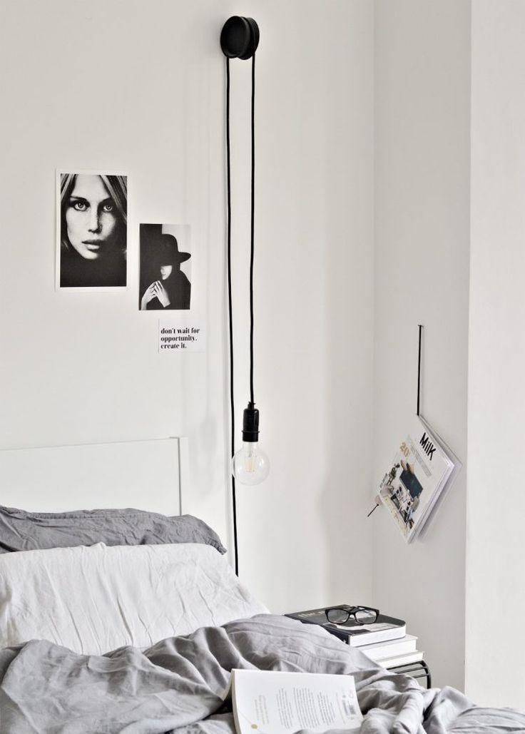 Black Hanging Bedside Lights