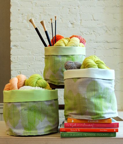Sewn Stash Baskets - the purl bee