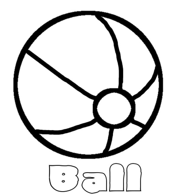 Beach ball coloring page | quiet books | Pinterest | Autismo y Molde
