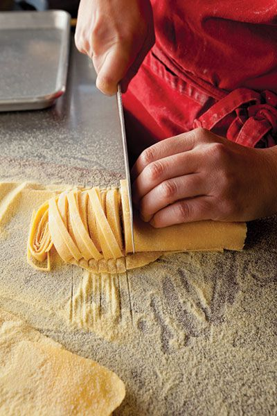 pasta in the making