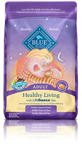 BLUE Adult Healthy Living Chicken & Brown Rice Dry Cat Food 15-lb