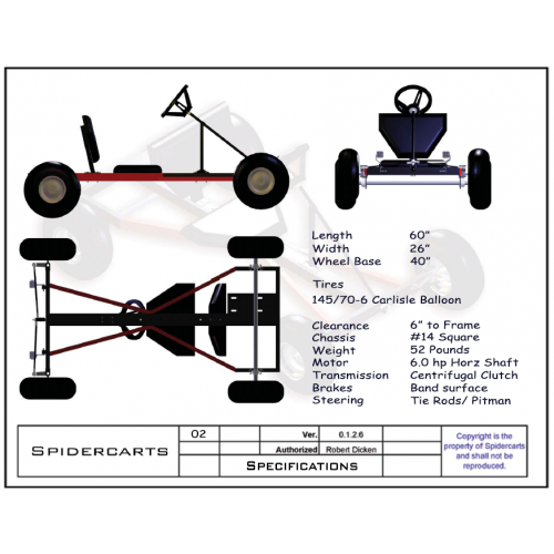 Free Go Kart Plans and Blueprints for SpiderCarts\' BlackWidow Go ...
