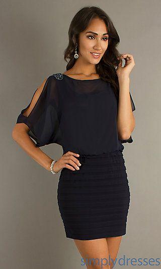 77db7357ce18 Short Split Sleeve Dress at SimplyDresses.com | dresses in 2019 ...