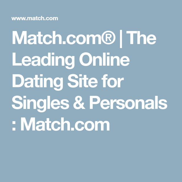 The Leading Online Dating Site for Singles