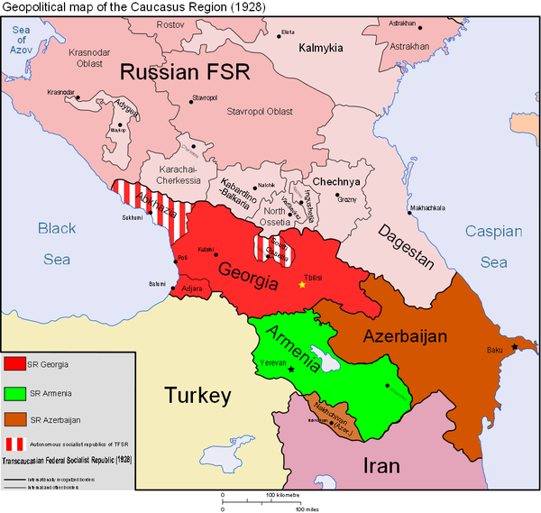Map of the Caucasus | World of Maps | Map, Map diagram, Historical Caucasus Map on