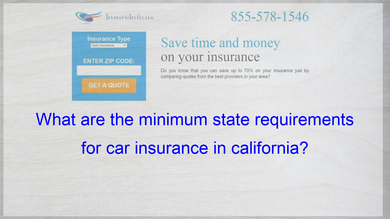 What Are The Minimum State Requirements For Car Insurance In
